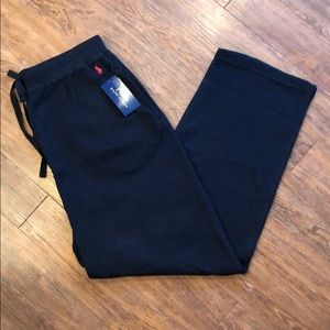 Ralph Lauren Black Waffle Knit Pajama Pants